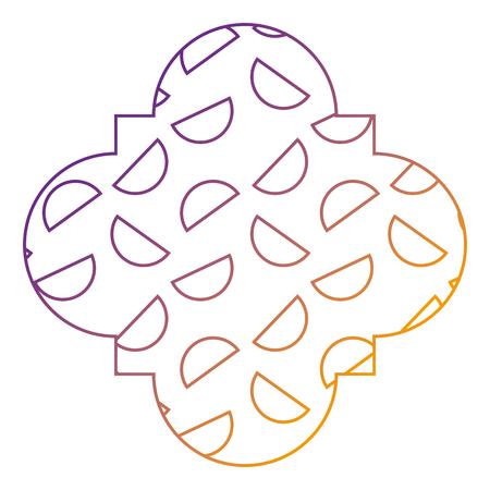 seamless pattern label shape half circles geometric memphis style vector illustration blur line design  イラスト・ベクター素材