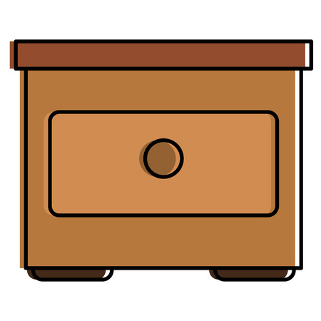 Wooden drawer isolated icon vector illustration design Banco de Imagens - 93972267