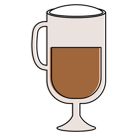 Progettazione deliziosa ghiacciata dell'illustrazione di vettore dell'icona del caffè Archivio Fotografico - 93972467