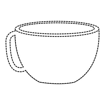 Ontwerp van de het pictogram vectorillustratie van de koffiekop het hete