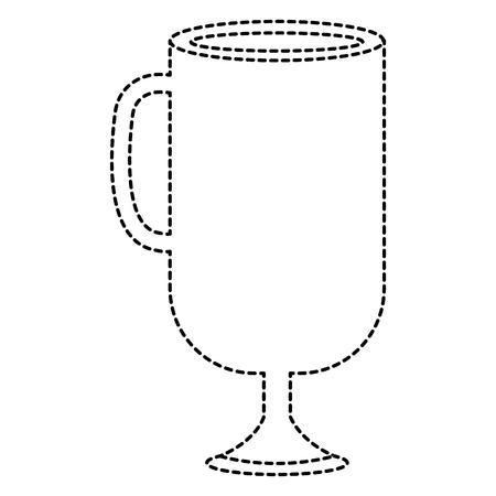 귀 격리 된 아이콘 벡터 일러스트 디자인 컵 일러스트