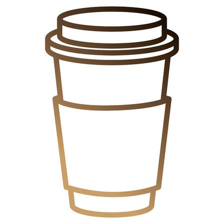 Coffee in plastic cup icon vector illustration design