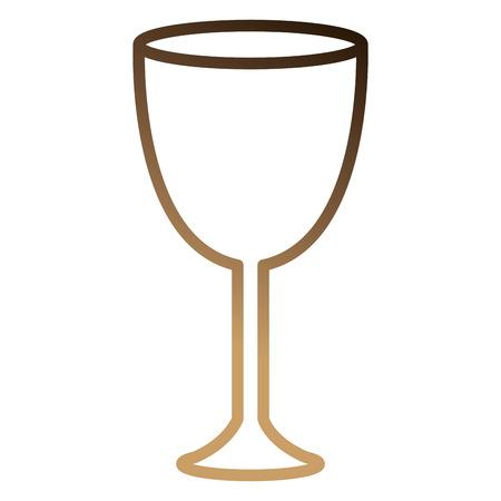 ワインカップ×アイコンベクトルイラストデザイン