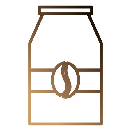 Coffee bag product icon vector illustration design