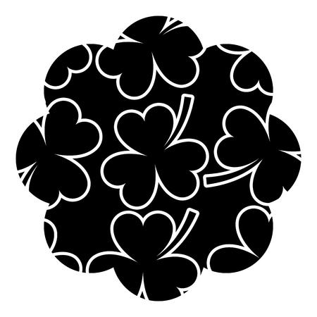 pattern shape label star st patrick day clover vector illustration