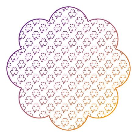pattern shape label star st patrick day clover vector illustration blur line design