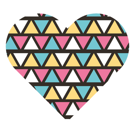 label shape heart different geometric figures vector illustration
