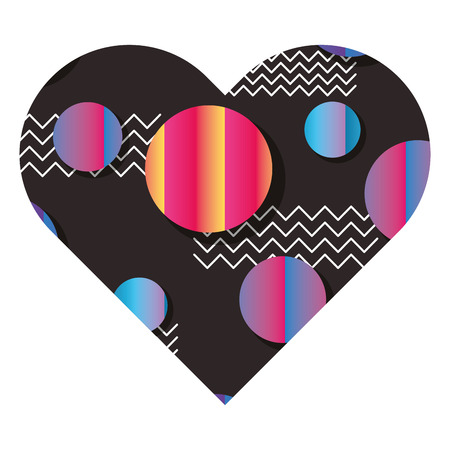 Etiket vorm hart verschillende geometrische figuren vector illustratie.