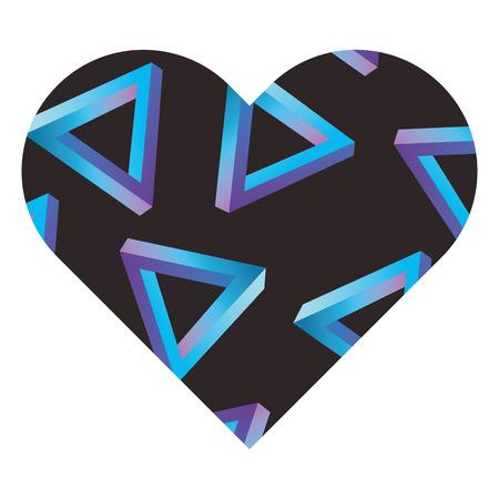 ラベル形状ハート異なる幾何学的な数字ベクトルイラスト  イラスト・ベクター素材