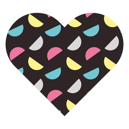 label vorm hart verschillende geometrische figuren vector illustratie