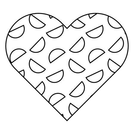 label shape heart different geometric figures vector illustration outline image