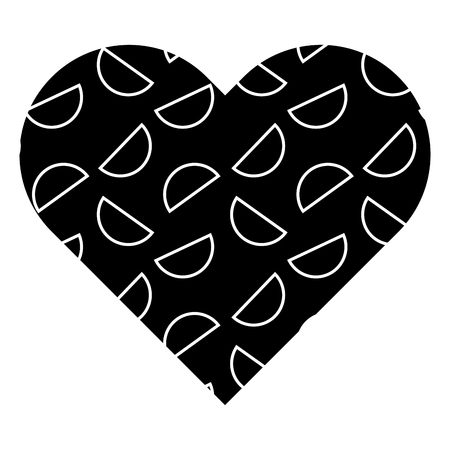 label shape heart different geometric figures vector illustration black background image Ilustração