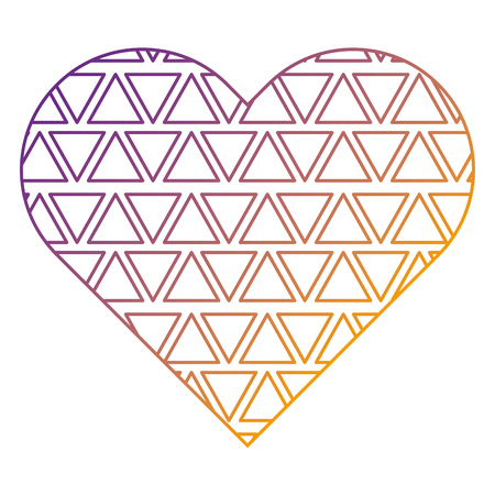 label shape heart different geometric figures vector illustration blur line design Reklamní fotografie - 93896761