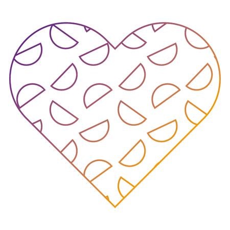 ラベル形状ハート異なる幾何学的な数字ベクトルイラストぼかしラインデザイン