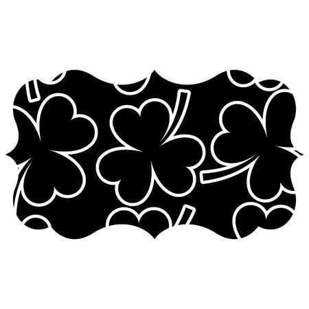 label decoration pattern clover st patrick day vector illustration black background design Illustration