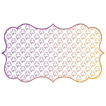 label decoration pattern clover st patrick day vector illustration blur line design