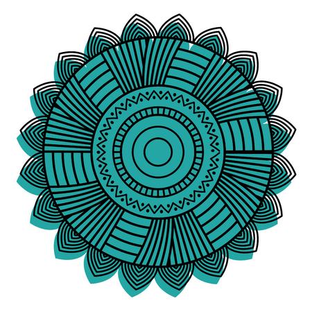 round ornamental mandala for coloring book Isolated design element vector illustration Illustration
