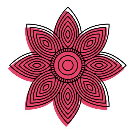 ●大人の着色ページベクトルイラスト用の花のマンダラ丸い飾り。