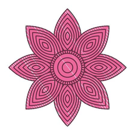 大人の着色ページベクトルイラストのための花のマンダラ丸い装飾