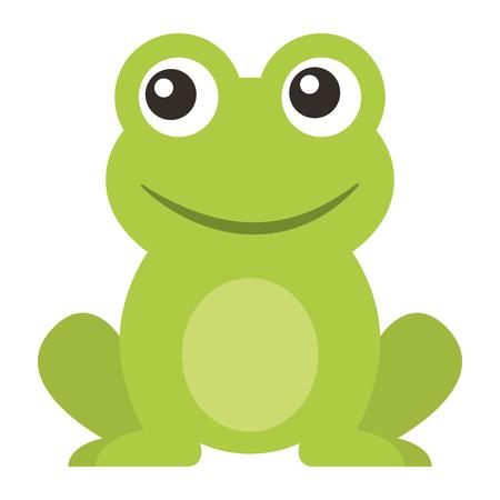 żaba ładny zwierzę siedzący kreskówka wektor ilustracja