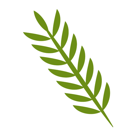 녹색 봄 분기 자연 벡터 일러스트 레이 션 단풍