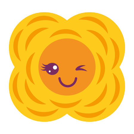 yellow flower   cartoon natural vector illustration