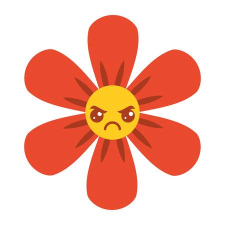 orange flower  cartoon botanical icon vector illustration Illustration