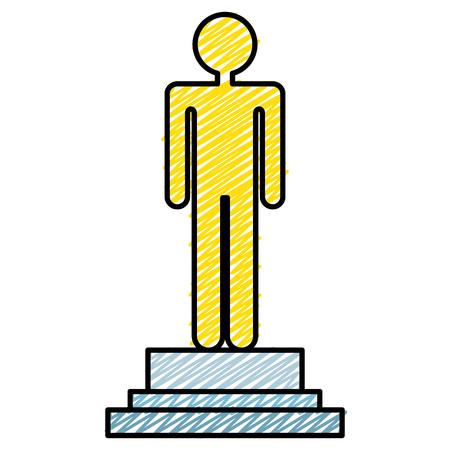 male human figure silhouette vector illustration design