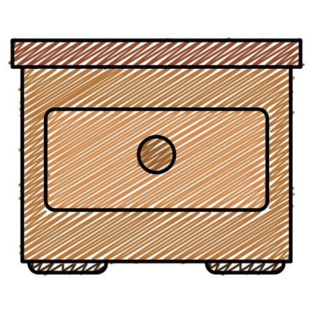 wooden drawer isolated icon vector illustration design Stock Vector - 93919508