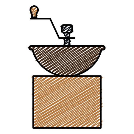 coffee grinder machine icon vector illustration design