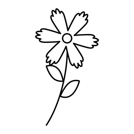 Flower vector illustration outline image