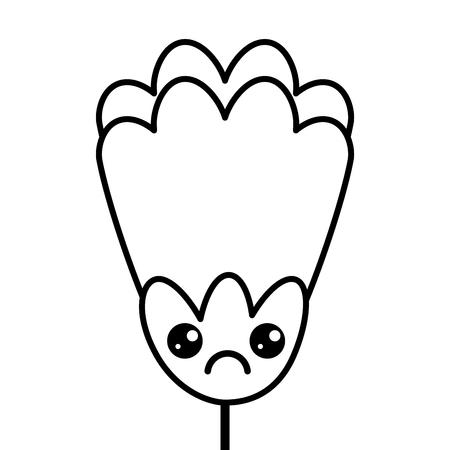 flower   cartoon character decoration vector illustration outline image
