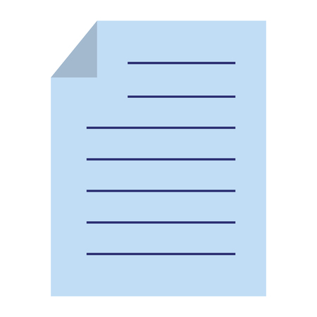 paper document isolated icon vector illustration design Çizim