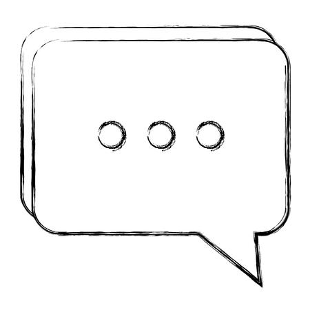 연설 거품 격리 된 아이콘 벡터 일러스트 레이 션 디자인 스톡 콘텐츠 - 93891325