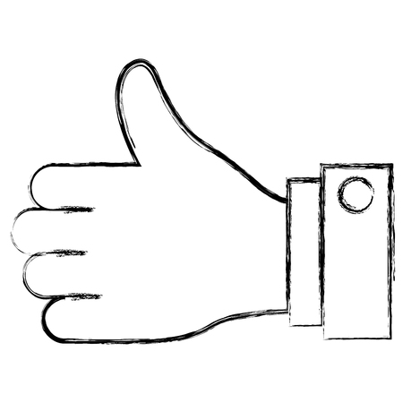 hand human like icon vector illustration design