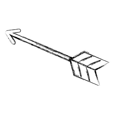 화살표 인도 고립 된 아이콘 벡터 일러스트 레이 션 디자인