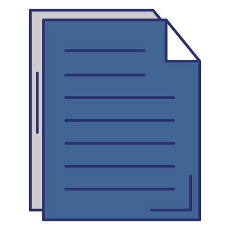 Paper document isolated icon vector illustration design. Illustration
