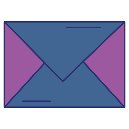 Mail envelope isolated icon vector illustration design.