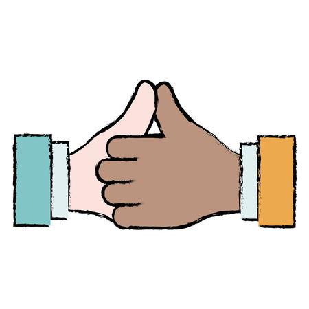 mãos feitas negócio ícone vector ilustração design