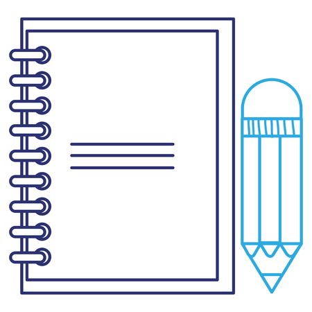 note book with pencil vector illustration design