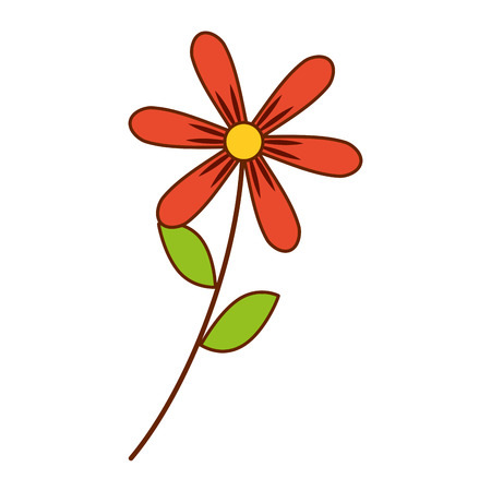 flower stem leaves nature petals decoration vector illustration Illusztráció