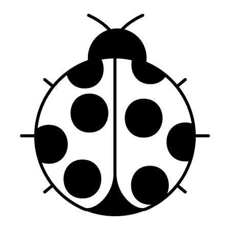 ladybug insect small icon animal vector illustration