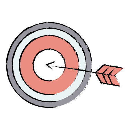 Target with arrow icon vector illustration design. Çizim