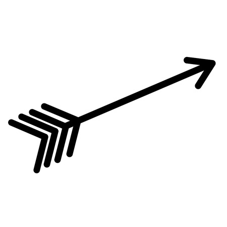 Arrow Indian isolated icon vector illustration design.