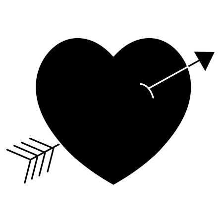 Heart with arrow icon vector illustration design. Иллюстрация
