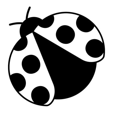 ladybug insect small icon animal vector illustration