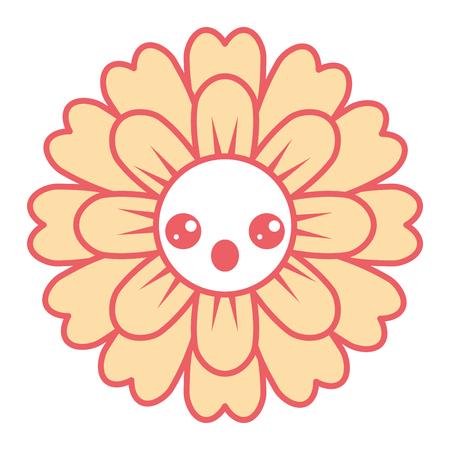 flower kawaii cartoon cute petals vector illustration Stock Vector - 93919692