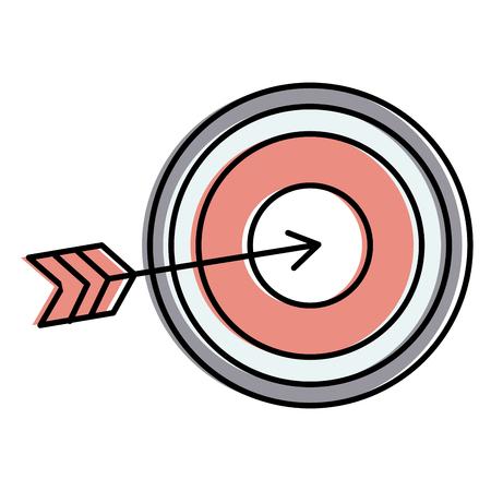 Ziel mit Pfeil Symbol Vektor-Illustration Design Standard-Bild - 93980314