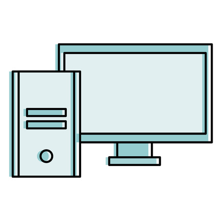 computer desktop isolated icon vector illustration design Illustration