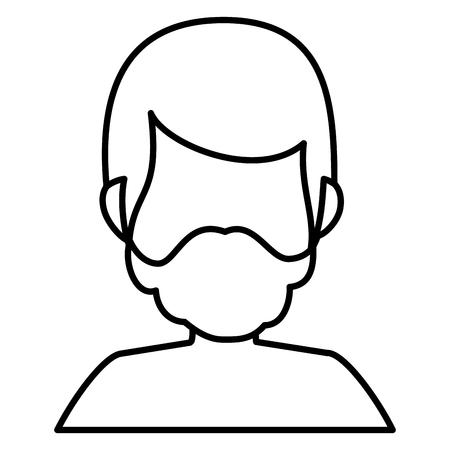 young man shirtless avatar character vector illustration design Stock Vector - 93970770